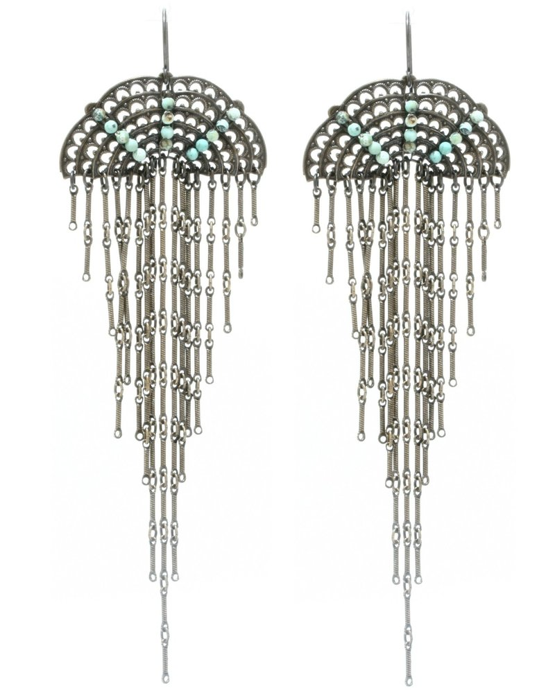 Rebel Designs Rebel Designs Filigree Dangle Earrings Afr Turq