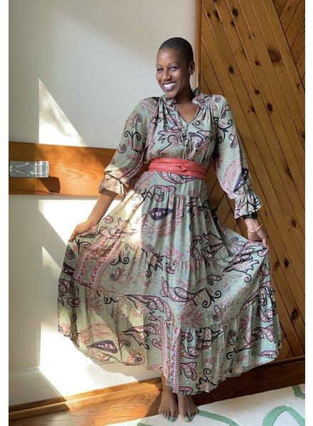 Paani Long Sleeve Maxi Tier 1105 Dress