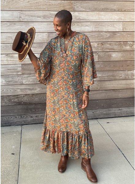 Paani Long Sleeve 1297 Maxi  Dress