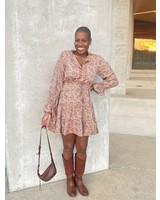 Paani Long Sleeve Print 832 Dress