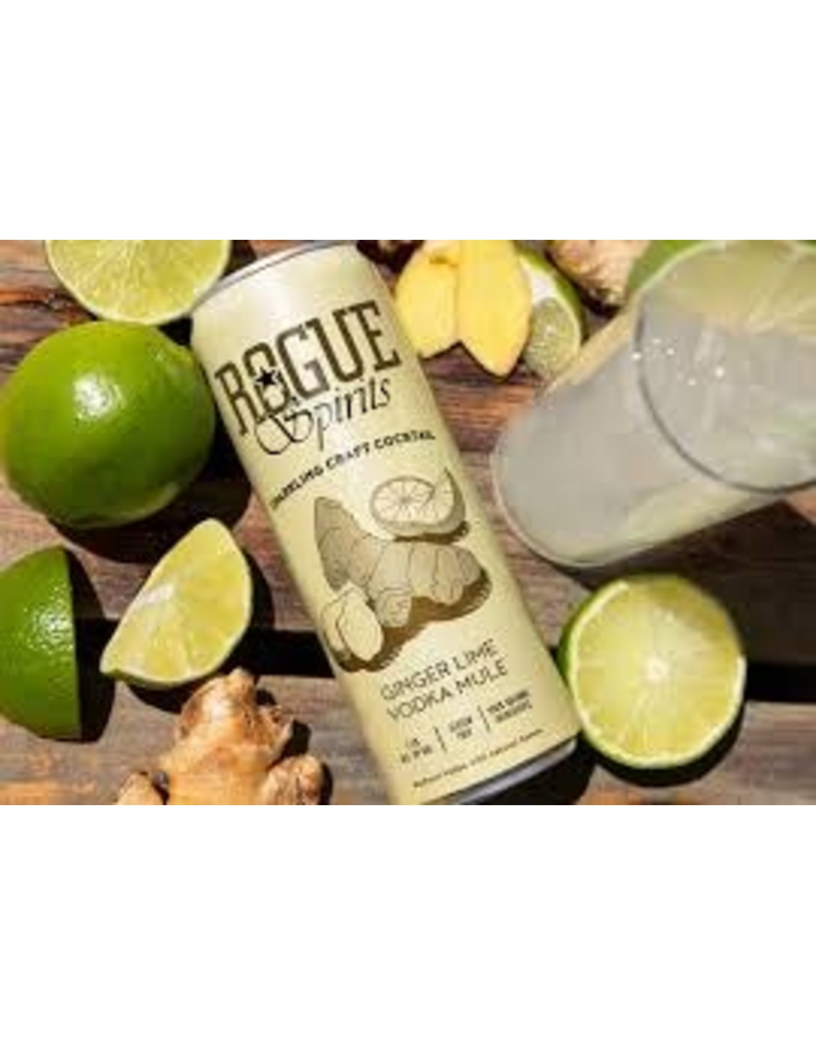 Rogue Rogue Ginger Lime Vodka Mule 4pk can