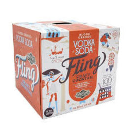 Boulevard Boulevard Fling Blood Orange Vodka Soda 4pk can