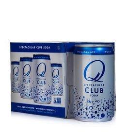 Q Club Soda 4pk can