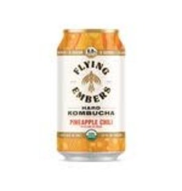 Flying Embers Flying Embers Pineapple Chili Kombucha 4pk can