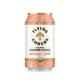 Flying Embers Flying Embers Grapefruit & Thyme Kombucha 4pk can