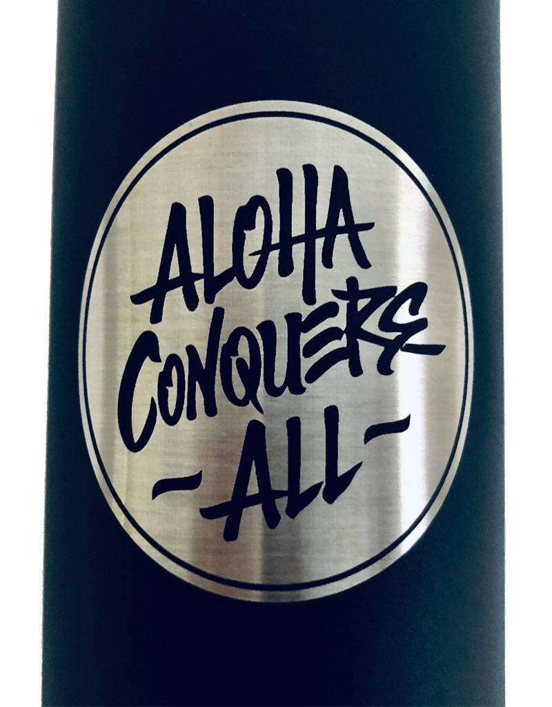 Aloha Conquers All SHAKA flask