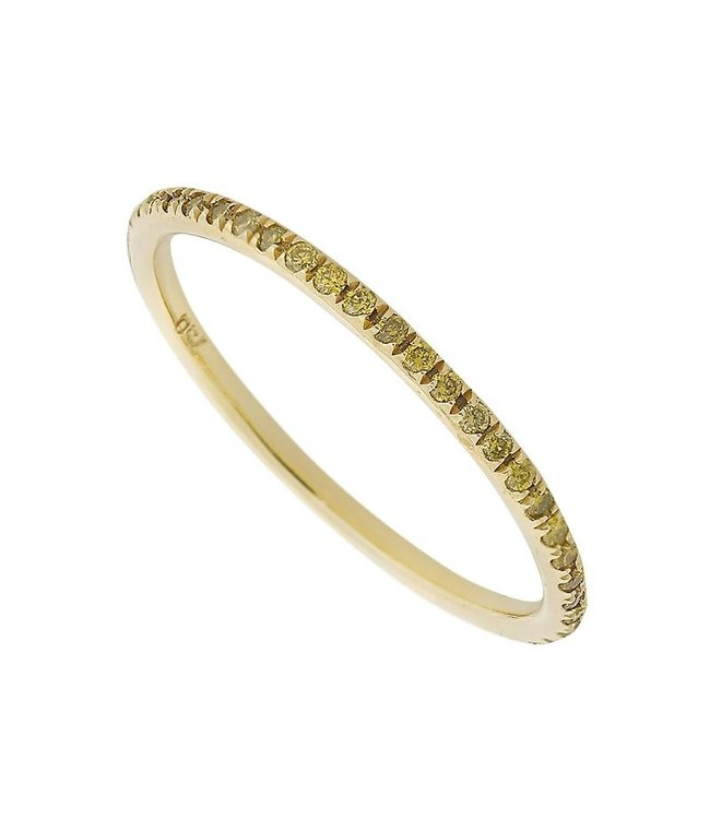 ILEANA MAKRI THREAD BAND Y- YELLOW D 18K YLW GOLD BAND WITH YELLOW DIAMONDS