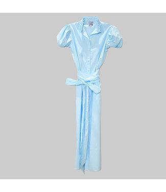 THIERRY COLSON VIRNA LONG SHIRT DRESS - RUFFLE COLLAR