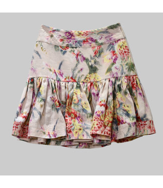 ZIMMERMANN WAVELENGTH FLOUNCE MINI SKIRT