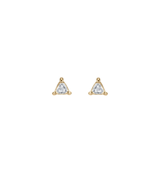 LIZZIE MANDLER MINI STUD - WHITE DIAMOND TRILLION (SINGLE)