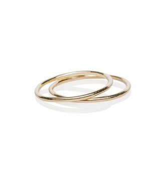 EF COLLECTION GOLD PINKY BAND RING