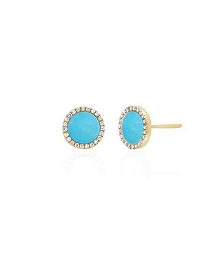 EF COLLECTION TURQUOISE DISC EARRING TURQUOISE DISC