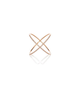 EF COLLECTION X RING ROSE GOLD 6