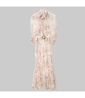 ZIMMERMANN SUPER EIGHT TIE MIDI DRESS