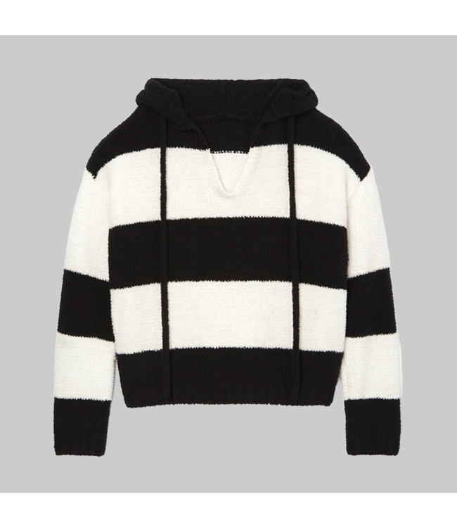 ATM CHENILLE BOLD STRIPE HOODIE SWEATER