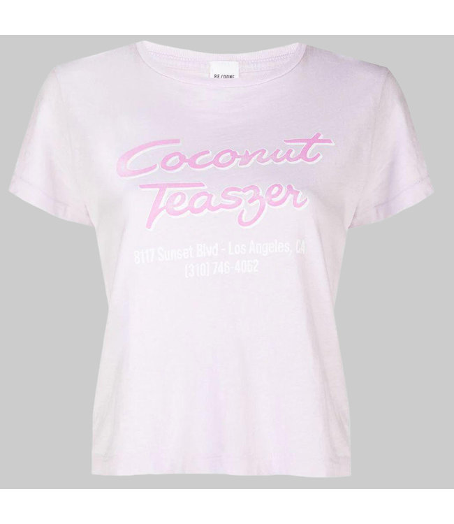 RE/DONE CLASSIC TEE 'COCONUT TEASER'