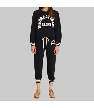 THE GREAT THE CROPPED SWEATPANT W/ GRAPHIC