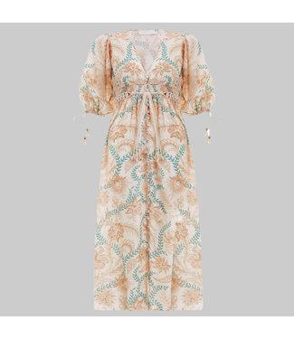 ZIMMERMANN VENETO SHIRRED WAIST DRESS
