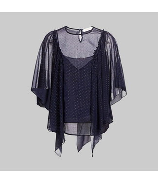 SEE BY CHLOE CHIFFON STUDDED BLOUSE EVENING