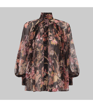 ZIMMERMANN WAVELENGTH SMOCK BLOUSE