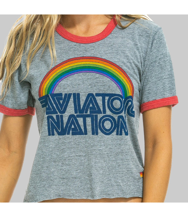 AVIATOR NATION 70 BOYFRIEND RINGER TEE
