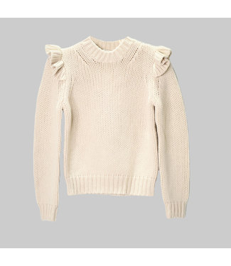 ZIMMERMANN LADYBEETLE SHOULDER FRILL SWEATER