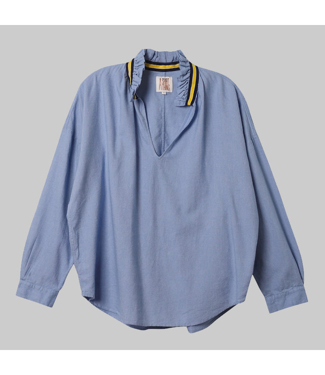 A SHIRT THING PENELOPE - FLANNEL CHAMBRAY