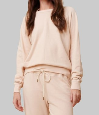 THE GREAT THE COLLEGE SWEATSHIRT WHISPER PINK