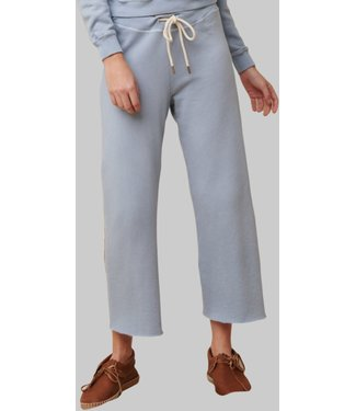 THE GREAT THE WIDE LEG CROPPED SWEATPANT POWDER BLUE