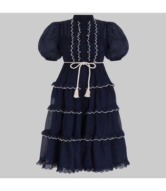 ZIMMERMANN ALIANE SCALLOP FRILL DRESS