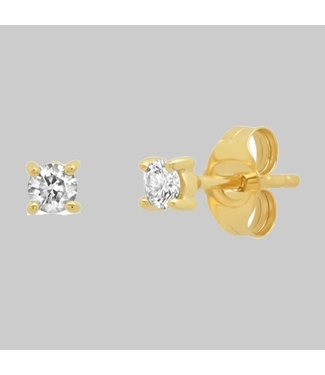 ERINESS 14K YELLOW GOLD DIAMOND STUDS