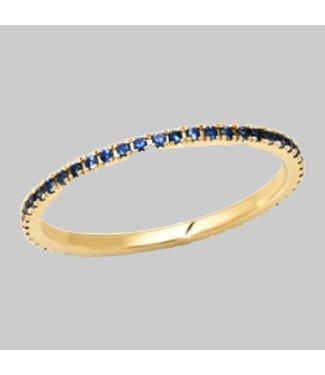 ERINESS 14K YELLOW GOLD BLUE SAPPHIRE ETERNITY BAND