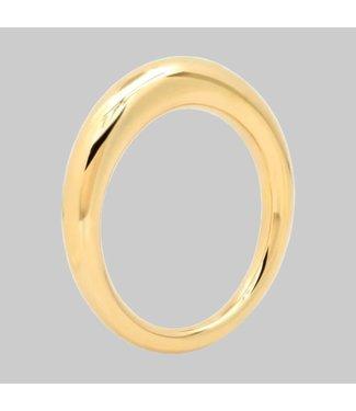 ERINESS 14K YELLOW GOLD ASYMMETRICAL RING