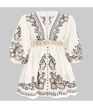 ZIMMERMANN ALIANE PAISLEY SHORT DRESS