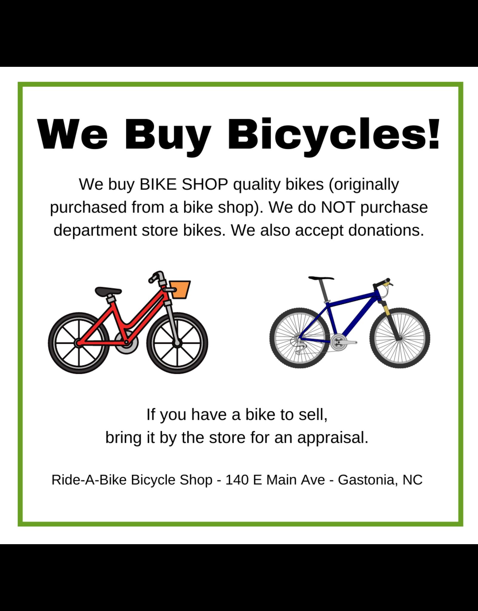 We Buy Bikes!