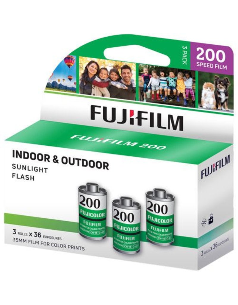 Fuji Fuji 200 36 Exposures  3-Pack (108 exposures)