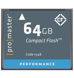 Promaster Compact Flash 64GB 500x Performance