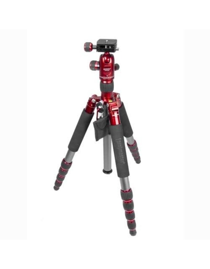 Promaster XC525 Tripod with Head - Red