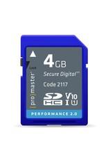 Promaster SDHC 4GB Performance 2.0