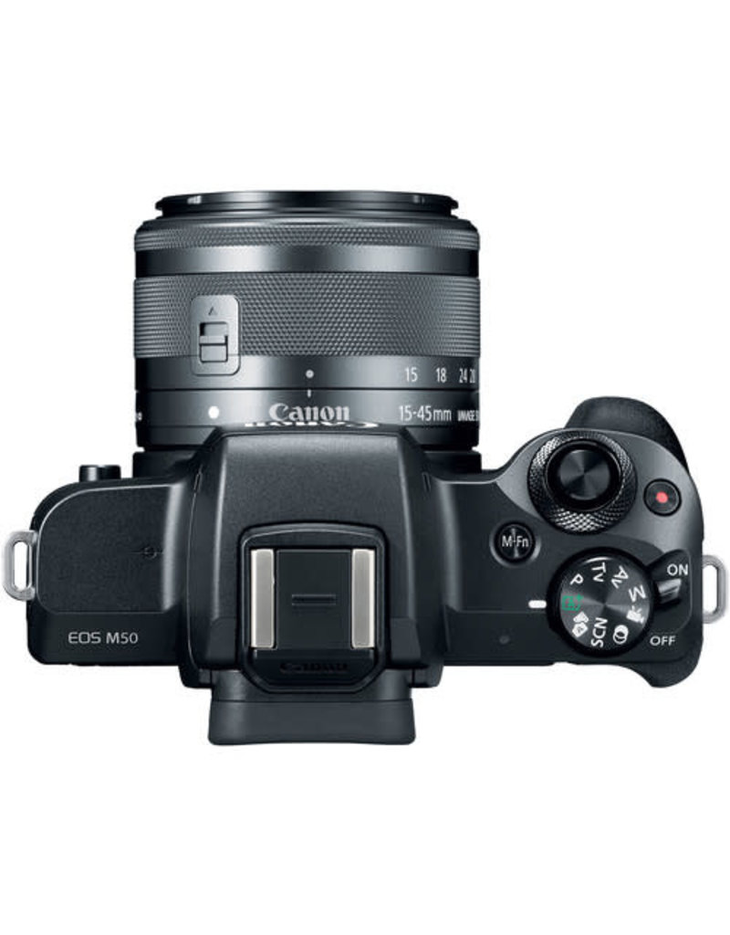 Canon EOS M50 (Black) EF-M 15–45mm IS STM (Graphite) Kit