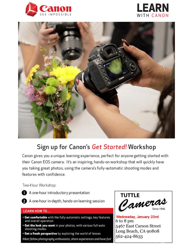 Canon Get Started Workshop