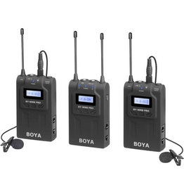 Boya Boya BY-WM8-PRO-2K UHF Wireless Lavalier Kit 2 Transmitters & 1 Receiver