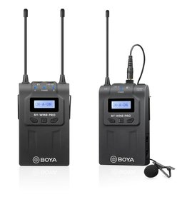Boya BOYA BY-WM8 Pro-K1 UHF Dual-Channel Wireless Microphone System with One Receiver and One Transmitter