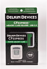 Delkin Delkin Devices 128GB CFexpress POWER Memory Card Plus USB 3.2 CFexpress Memory Card Reader
