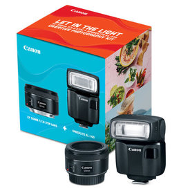 Canon Canon EF 50mm f/1.8 STM Lens + Speedlite EL-100 Creative Photography Kit