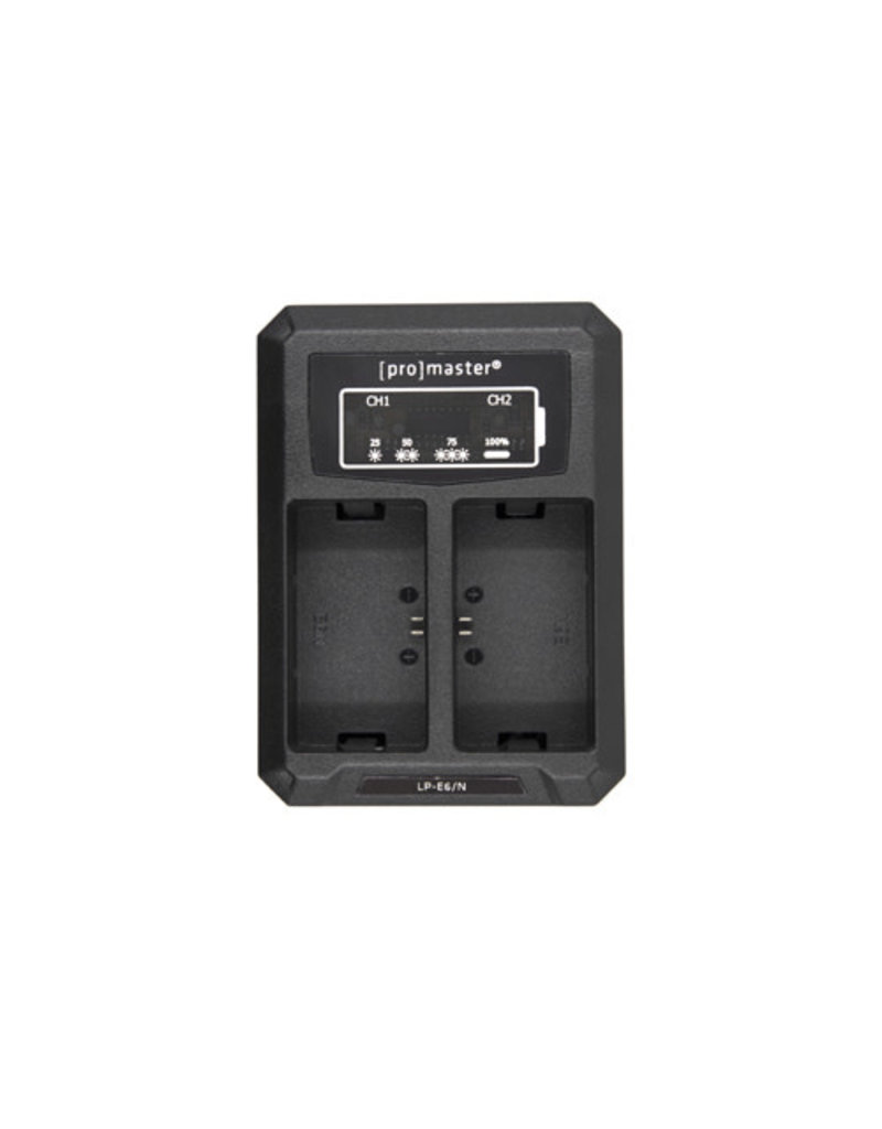 Promaster Dually Charger - USB for Canon LP-E6(N)