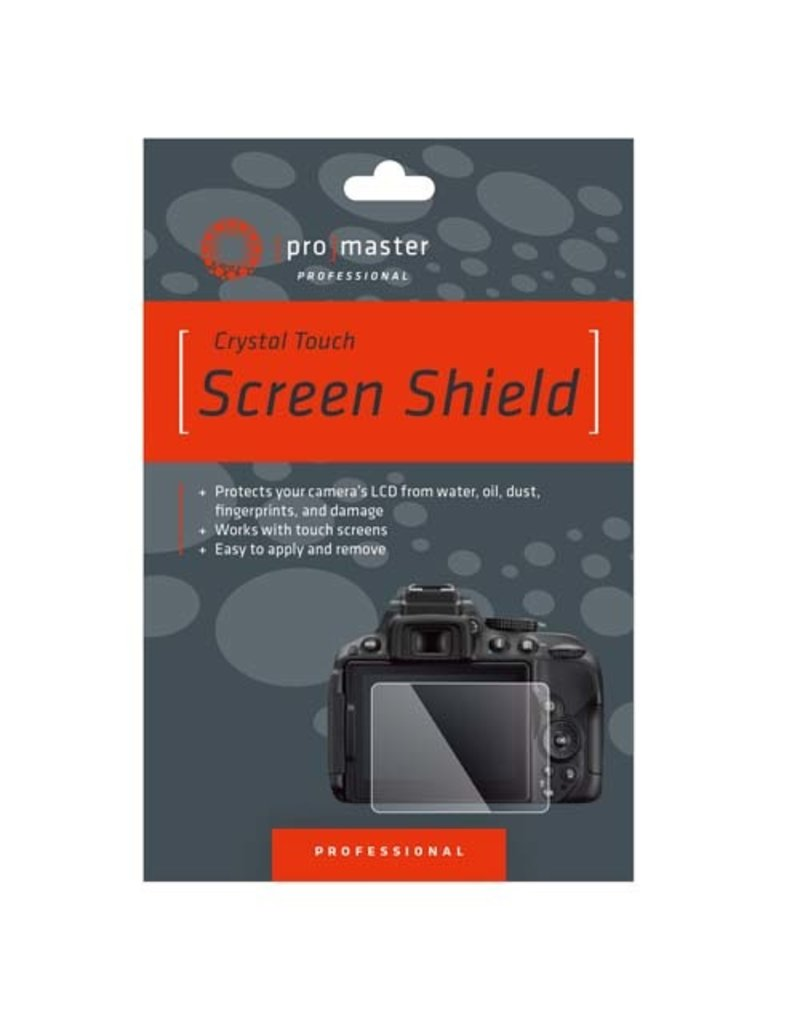 Promaster Crystal Touch Screen Shield - Canon M6, M6 Mark II, M50, M100, G9X, G9X Mark II, G7X, G5X, G5X Mark II, and G1X Mark II