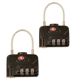 SKB SKB TSA Combination Cable Padlocks (2-Pack)