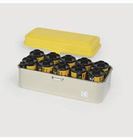 Kodak KODAK FILM CASE 120/35MM (Yellow Lid/Silver Body)