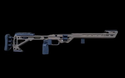 Masterpiece Arms Masterpiece Arms Comp Chassis ( Burnt Bronze ) S/A Rem 700 Inlet